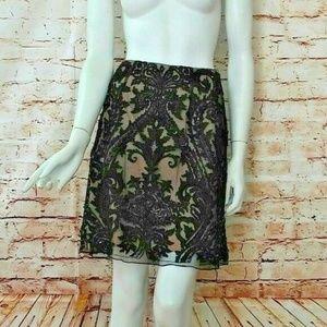 Sherri Hill  2 Black Lace Embellished Skirt